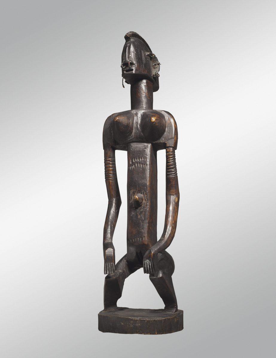 Statue féminine Dogon-profil