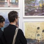 Visite de la foire « Drawing Now », salon du dessin contemporain